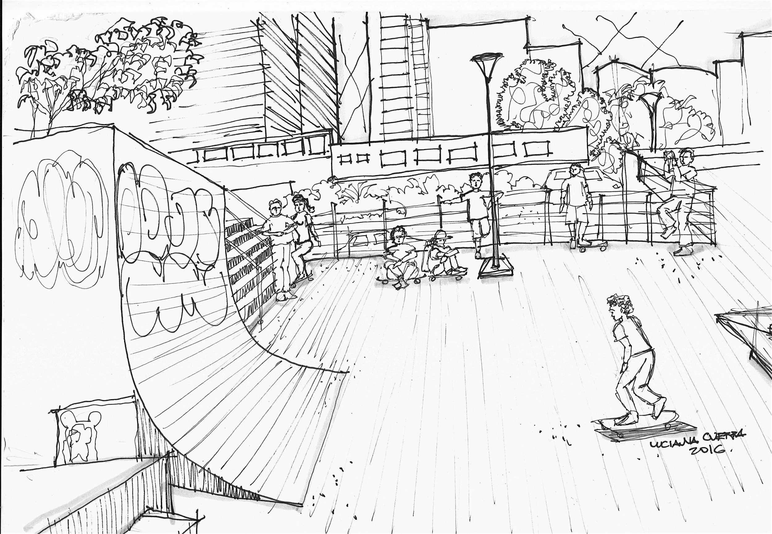 ilustração praça roosevelt