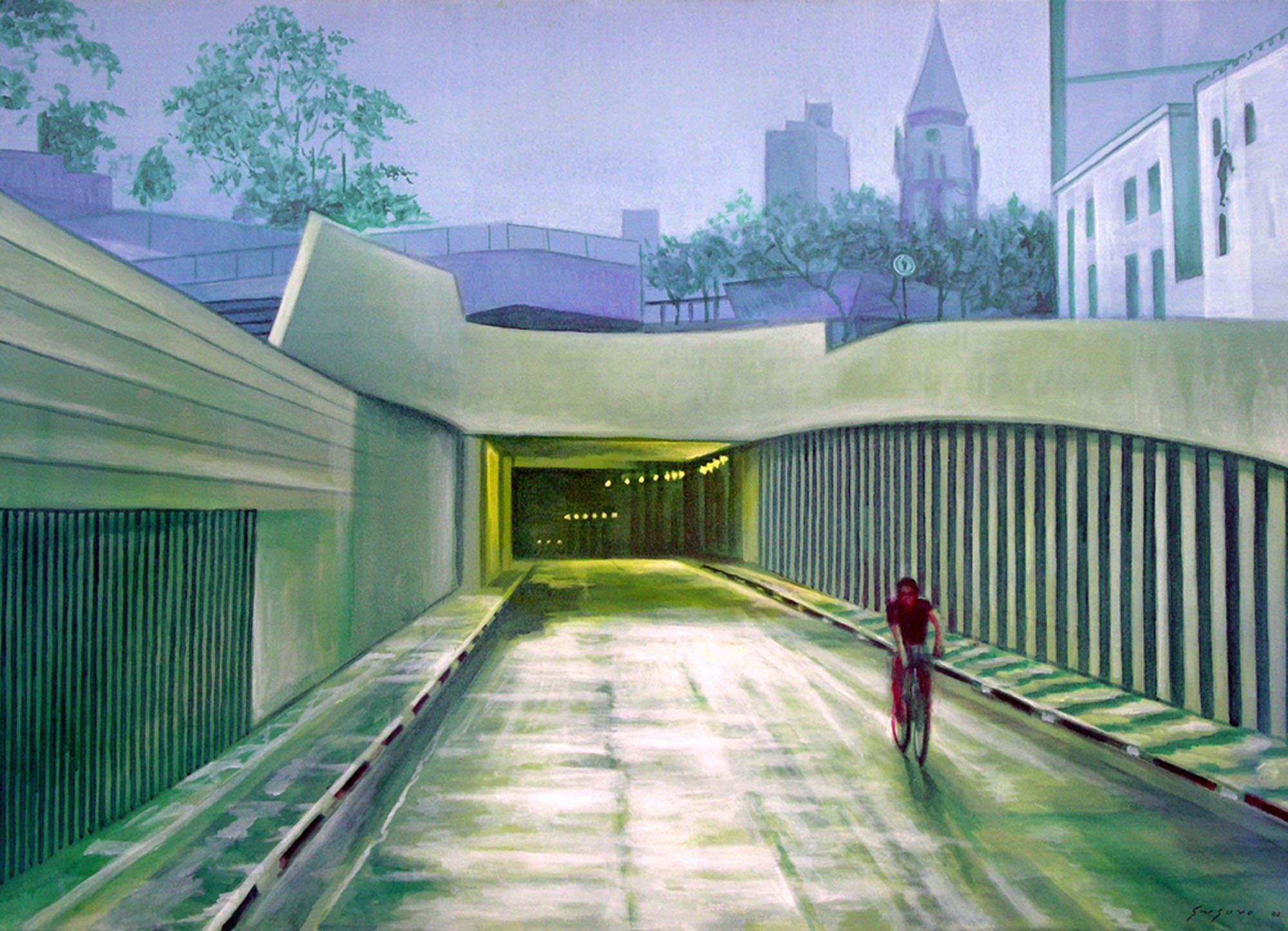 Pintura do artista Gregório Gruber em pintura sobre tela.