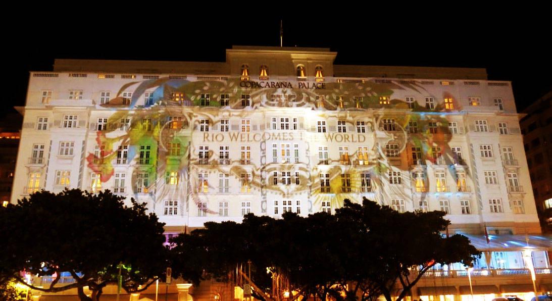 Fachada do Hotel Copacabana Palace no Rio de Janeiro.